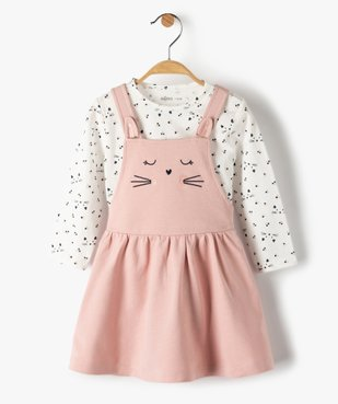 Ensemble bébé fille 2 pièces : robe + tee-shirt motif chat vue1 - Nikesneakers(BEBE DEBT) - Nikesneakers