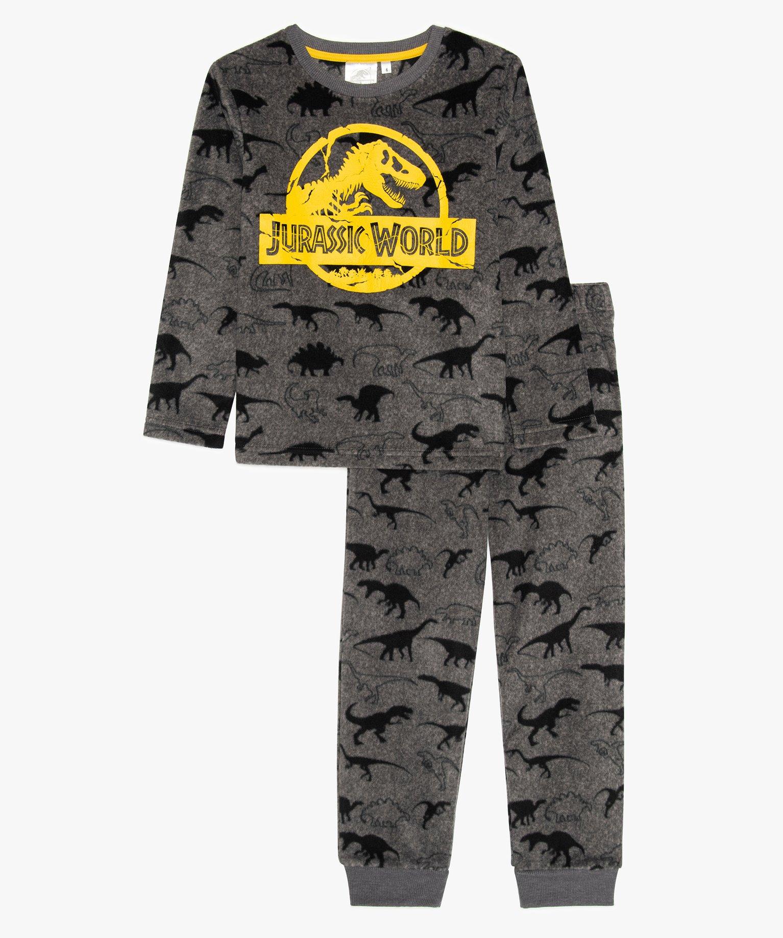 Pyjama garçon en polaire douce imprimé Jurassic World