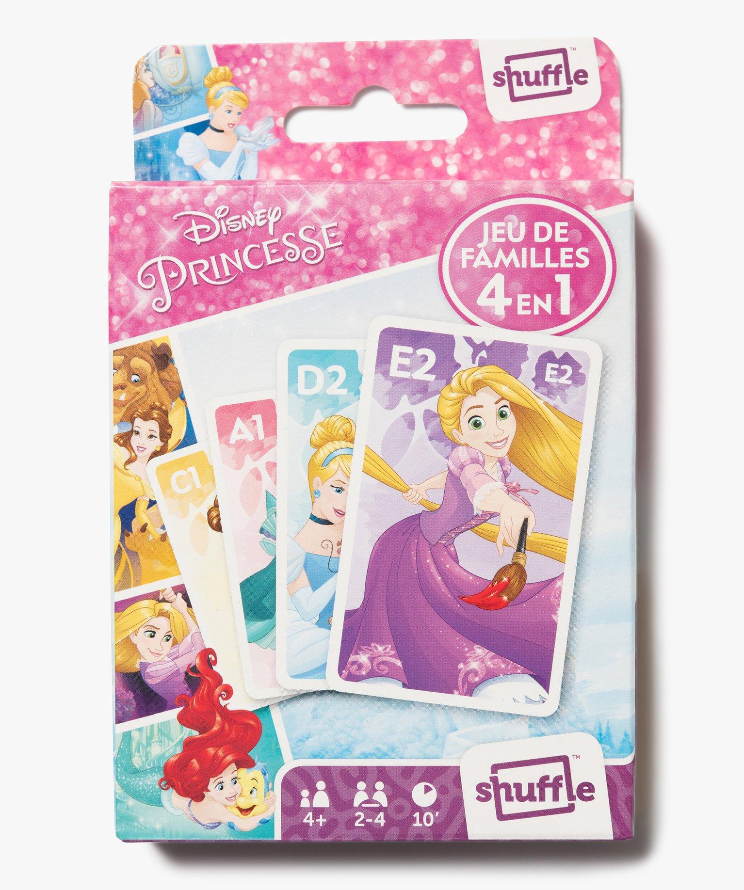 Jeu de Cartes 4 Jeux en 1 - Disney Princesses