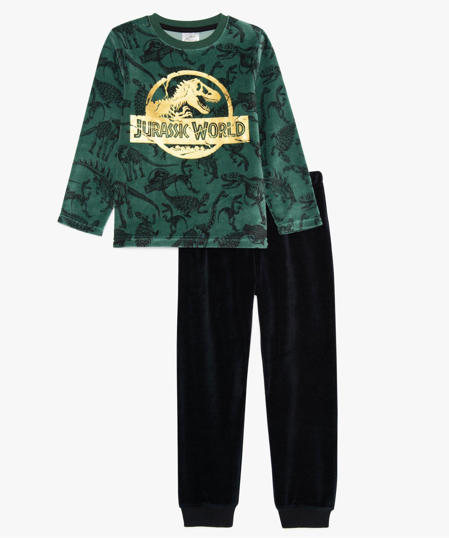 Pyjama garçon en velours avec motif dinosaure – Jurassic World