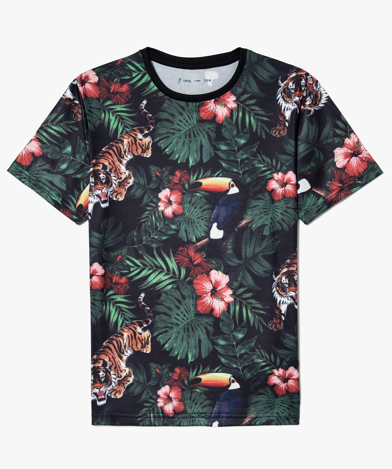 Tee-shirt en microfibre imprimé jungle