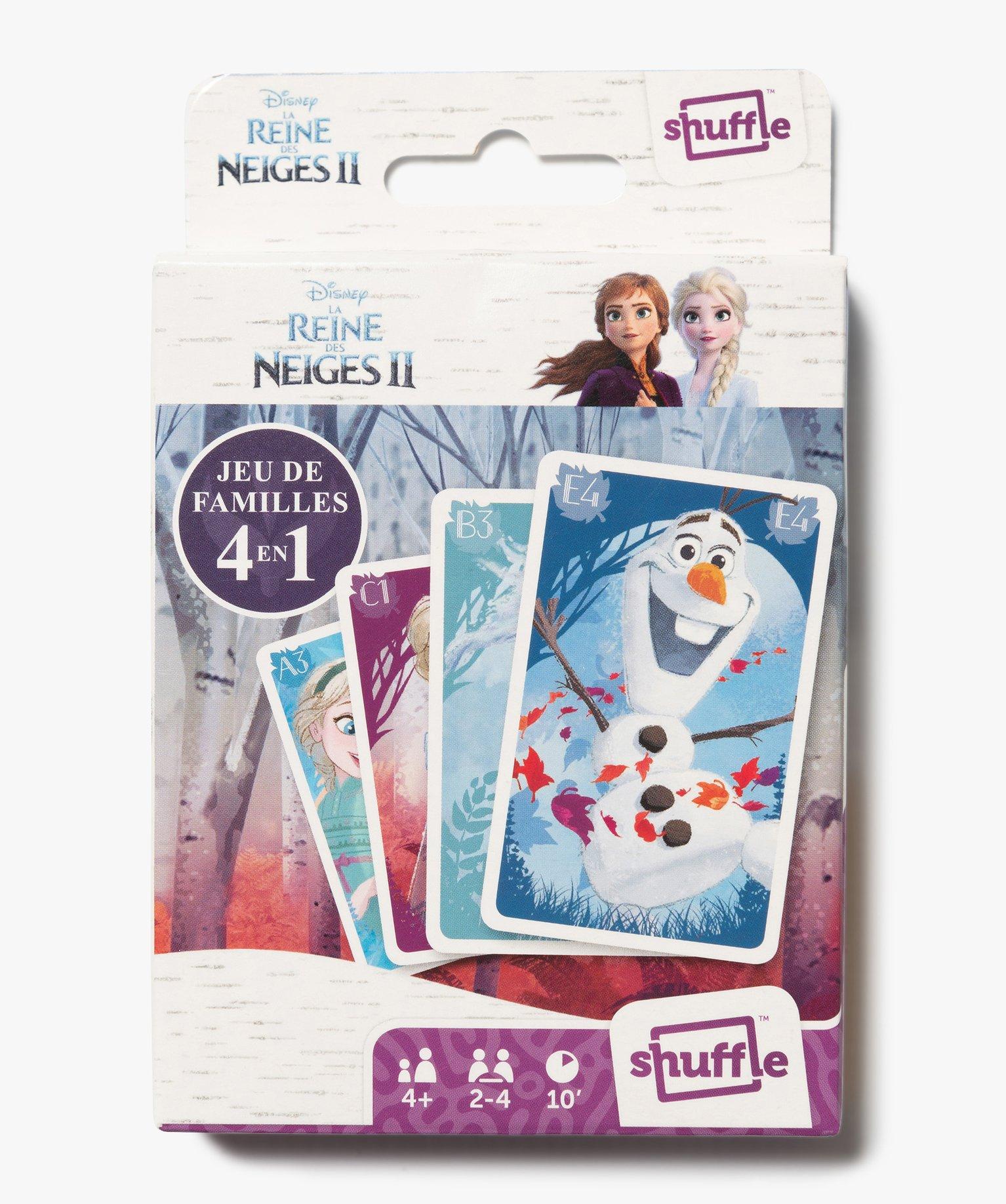 Jeu de cartes 4 en 1 Shuffle - La Reine des Neiges