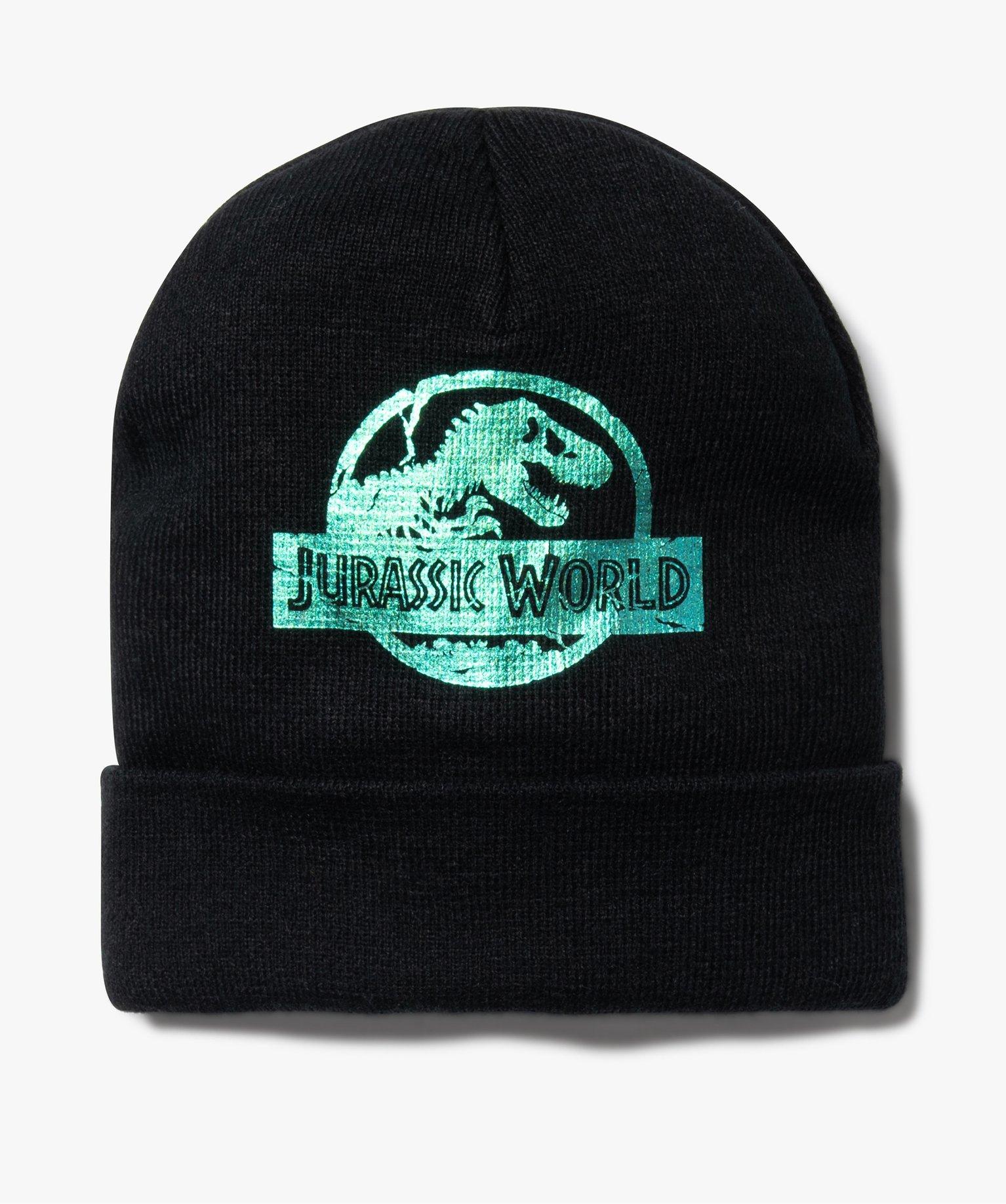 Bonnet garçon avec revers et motif scintillant – Jurassic World