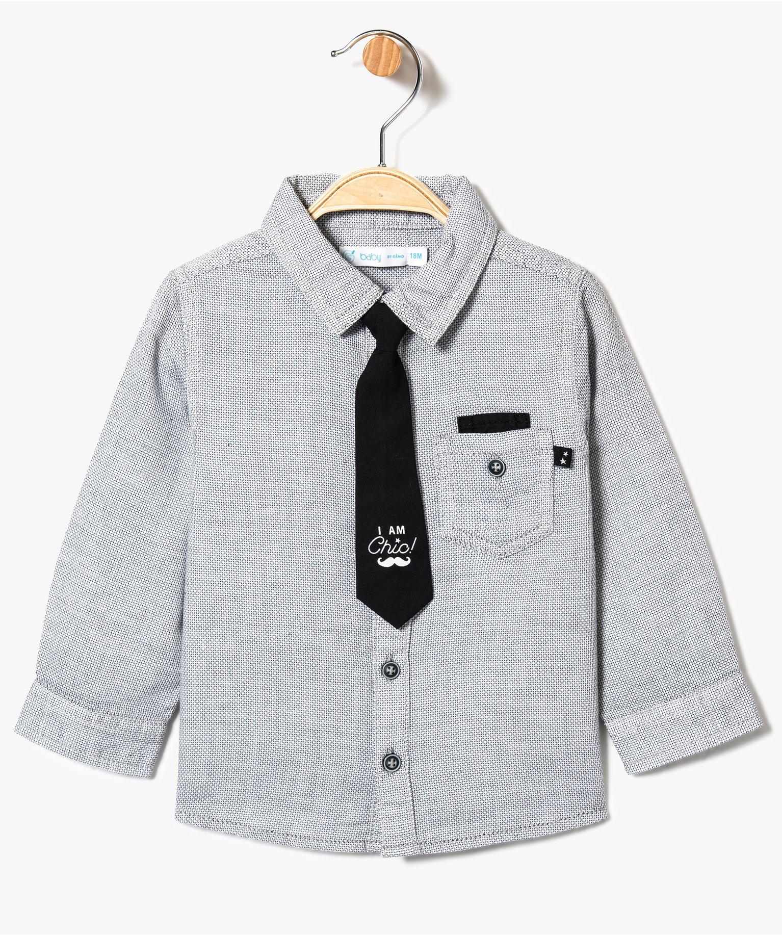 Chemise texturée avec cravate