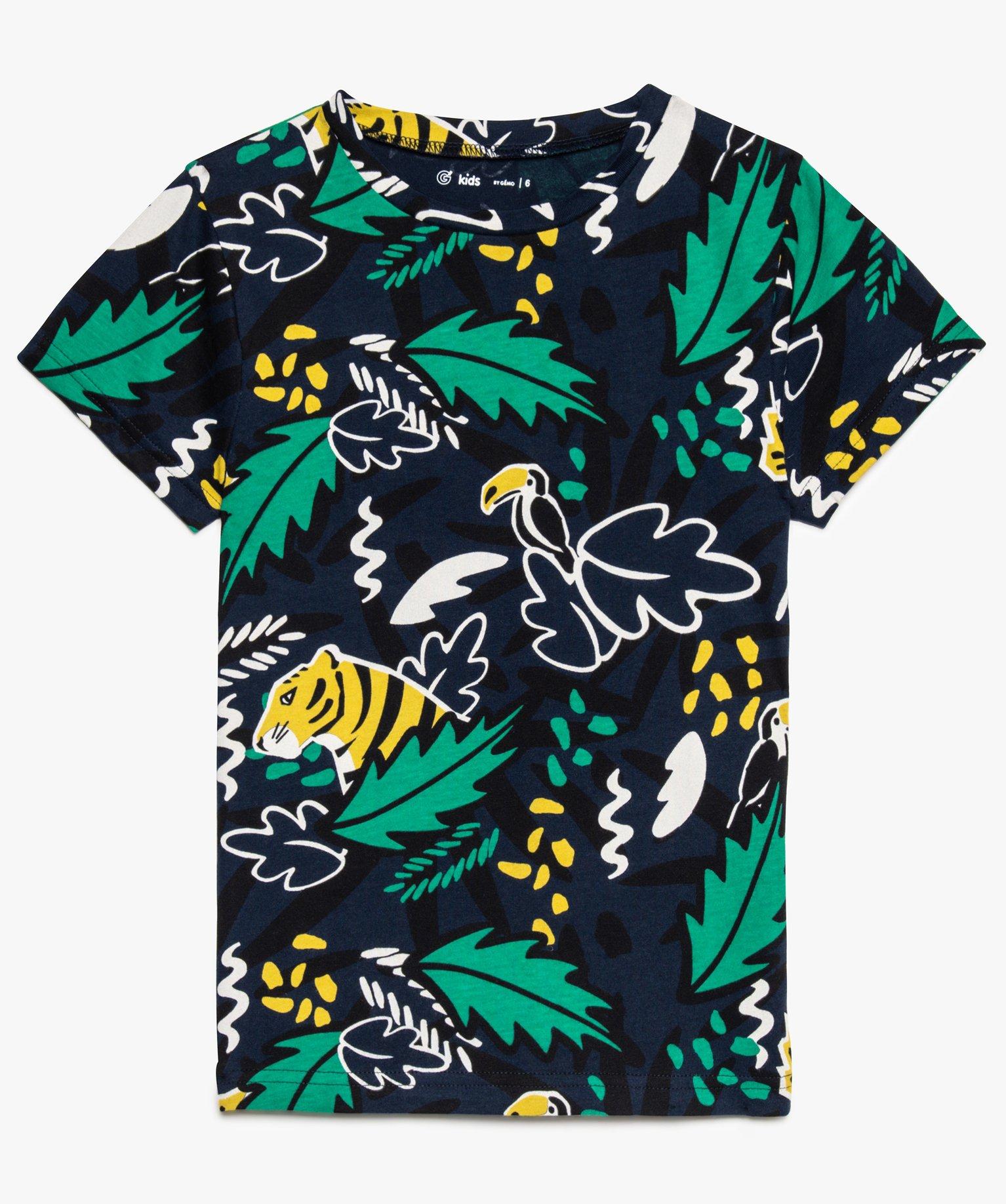 Tee-shirt garçon imprimé esprit jungle
