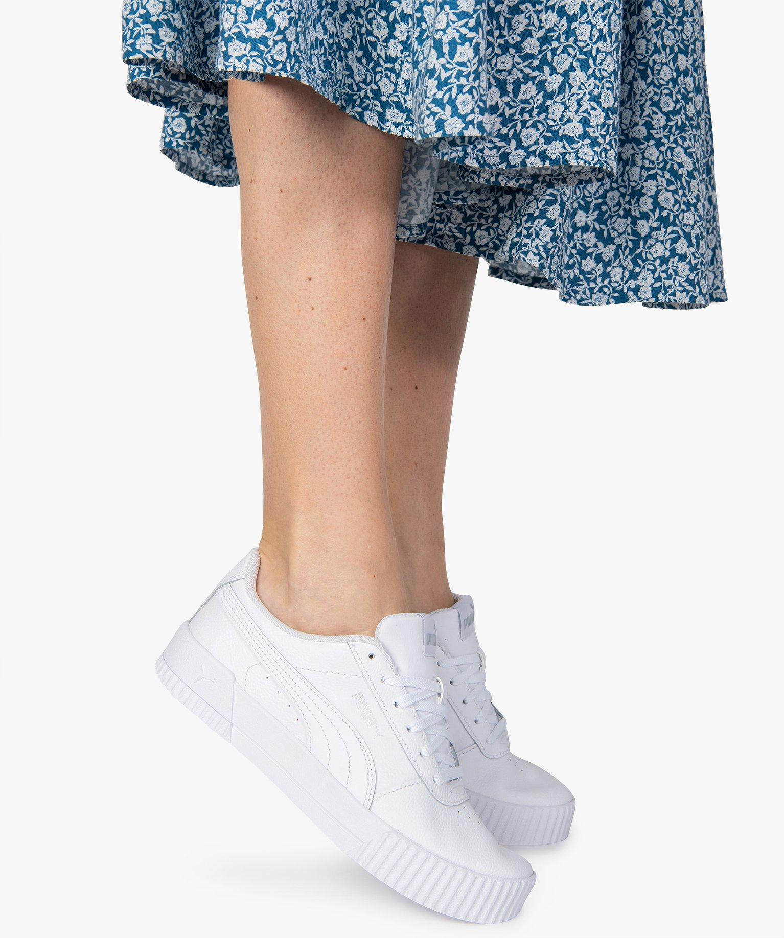 Baskets femme dessus cuir à lacets - Puma Carina L | GEMO