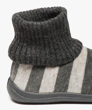 Chaussons bébé à rayures avec tige façon chaussettes vue6 - GEMO (ENFANT) - GEMO
