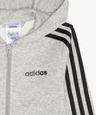 Sweat enfant à capuche et fermeture zippée - Adidas vue2 - ADIDAS - GEMO