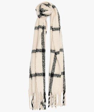 Echarpe femme à carreaux et longues franges vue1 - GEMO (ACCESS) - GEMO