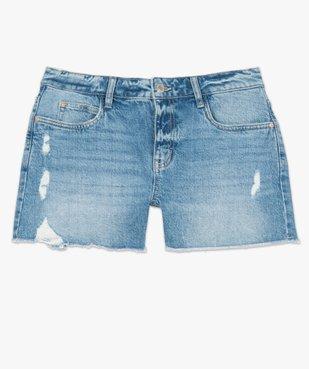 Short femme en jean aspect usé vue4 - GEMO(FEMME PAP) - GEMO