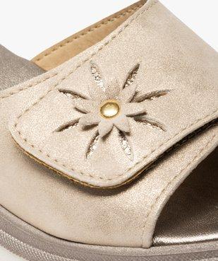 Mules femme confort à talon compensé et bandeau métallisé vue6 - GEMO (CONFORT) - GEMO