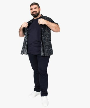 Pantalon homme en toile coupe Straight vue5 - GEMO (G TAILLE) - GEMO
