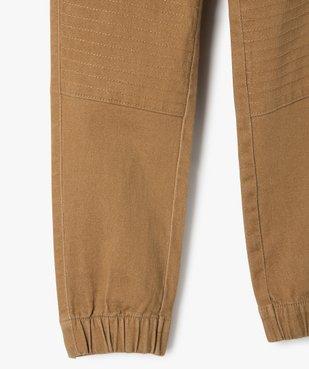 Pantalon garçon avec empiècements surpiqués aux genoux vue4 - GEMO C4G GARCON - GEMO