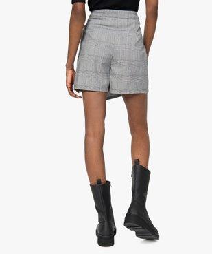 Jupe short femme effet portefeuille motif Prince de Galles  vue3 - GEMO(FEMME PAP) - GEMO