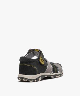 Sandales garçon à scratch à brides multiples en cuir vue4 - Nikesneakers (ENFANT) - Nikesneakers