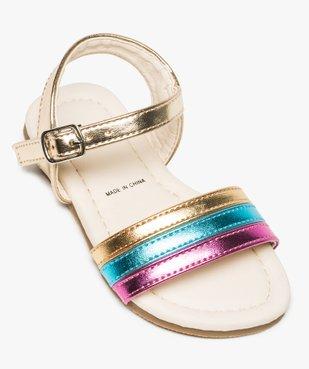 Sandales bébé fille avec bride tricolore et fermeture boucle vue5 - GEMO(BEBE DEBT) - GEMO