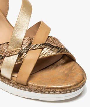 Sandales femme à talon compensé et brides fantaisie vue6 - GEMO(URBAIN) - GEMO
