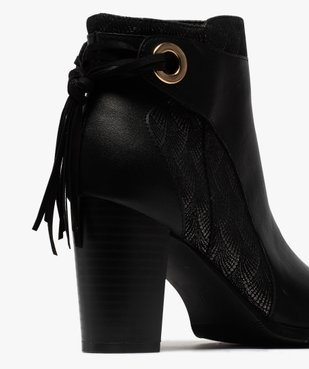 Boots femme à talon avec laçage fantaisie sur le contrefort vue6 - GEMO(URBAIN) - GEMO