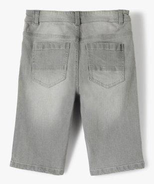 Bermuda garçon en jean 5 poches vue4 - GEMO (JUNIOR) - GEMO