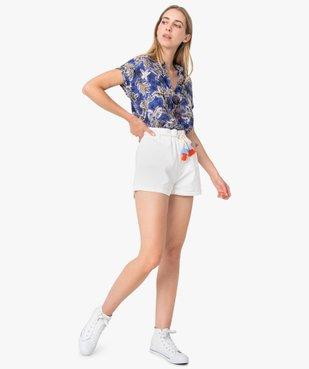 Chemise femme imprimée à manches courtes et bas élastiqué vue5 - GEMO(FEMME PAP) - GEMO