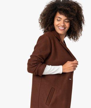 Manteau court femme en matière extensible et grand col vue2 - Nikesneakers(FEMME PAP) - Nikesneakers