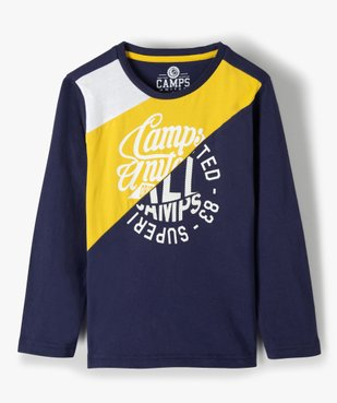Tee-shirt garçon multicolores à manches longues - Camps vue2 - CAMPS UNITED - Nikesneakers
