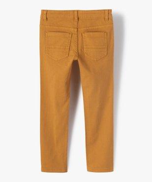 Pantalon garçon uni coupe Slim extensible  vue3 - Nikesneakers (ENFANT) - Nikesneakers
