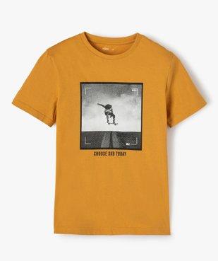 Tee-shirt garçon à manches courtes avec large motif vue1 - GEMO (JUNIOR) - GEMO