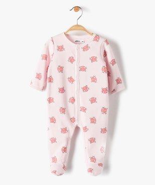 Pyjama bébé fille à motifs chats vue1 - GEMO(BB COUCHE) - GEMO