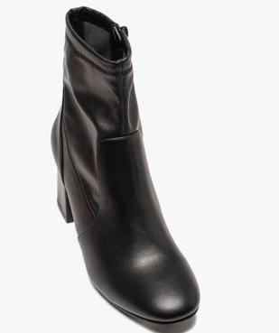 Boots femme unies à talon carré et col ajusté vue5 - GEMO(URBAIN) - GEMO