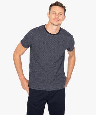 Tee-shirt homme à manches courtes à rayures vue1 - GEMO (HOMME) - GEMO