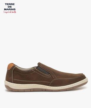Chaussures bateau homme sans lacets – Terre de Marins vue1 - TERRE DE MARINS - GEMO