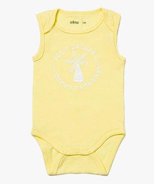 Body bébé garçon sans manches assortis à motifs tropicaux (lot de 3)  vue2 - GEMO C4G BEBE - GEMO