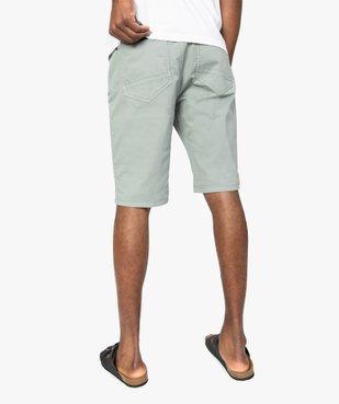 Bermuda homme en coton stretch vue3 - GEMO (HOMME) - GEMO