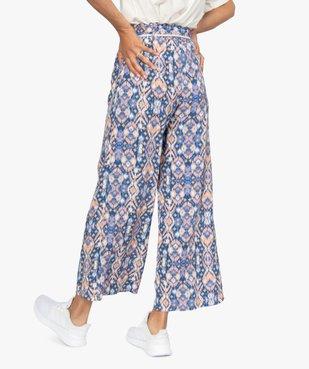 Pantalon femme ample et fluide à motifs vue3 - GEMO(FEMME PAP) - GEMO