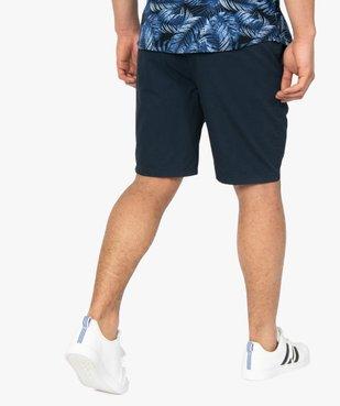 Bermuda homme en toile à taille élastiquée vue3 - GEMO (HOMME) - GEMO