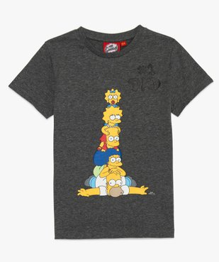 Tee-shirt garçon avec motif coloré famille Simpsons vue1 - SIMPSONS - GEMO