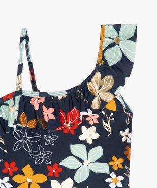 Maillot de bain fille une pièce asymétrique avec motifs fleuris vue2 - Nikesneakers (ENFANT) - Nikesneakers