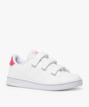 Baskets fille unies trois bandes scratch – Adidas vue2 - ADIDAS - Nikesneakers