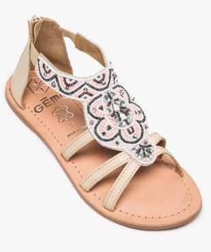 Sandales fille zippées ornées de perles et de strass vue5 - GEMO (ENFANT) - GEMO