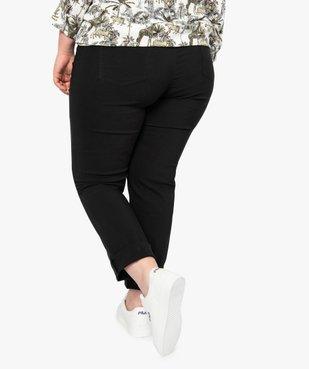 Pantalon femme droit en toile fine stretch vue3 - GEMO (G TAILLE) - GEMO