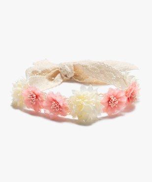 Bandeau à cheveux femme en crochet à fleurs vue1 - GEMO (ACCESS) - GEMO
