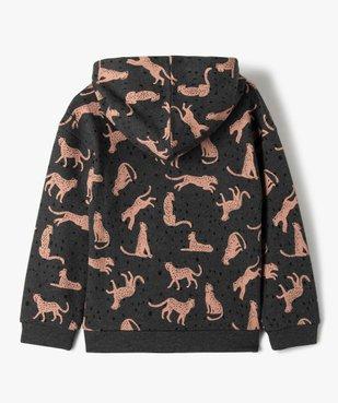 Sweat fille à capuche avec motif léopards vue3 - Nikesneakers (ENFANT) - Nikesneakers