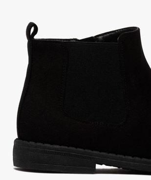 Boots fille style chelsea en suédine unie vue6 - Nikesneakers (ENFANT) - Nikesneakers