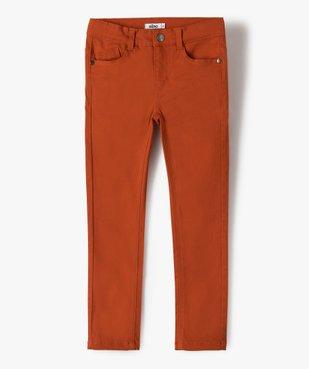 Pantalon garçon coupe skinny en toile extensible vue1 - GEMO (ENFANT) - GEMO