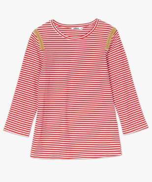 Tee-shirt femme rayé à manches longues en maille côtelée vue4 - Nikesneakers(FEMME PAP) - Nikesneakers