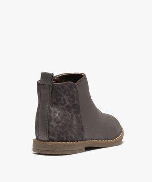 Boots fille à talon plat et reflets métallisés vue4 - GEMO (ENFANT) - GEMO