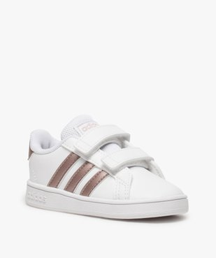 Baskets fille à scratch Grand Court Adidas vue2 - ADIDAS - Nikesneakers