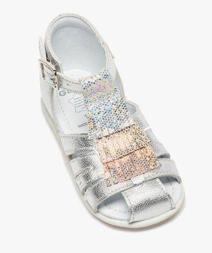 Sandales premiers pas bébé fille avec franges métallisées vue5 - Nikesneakers(BEBE DEBT) - Nikesneakers