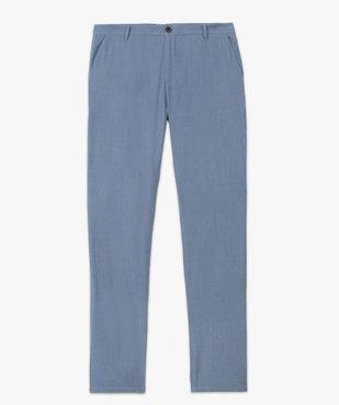 Pantalon homme coupe chino en lin et coton vue4 - GEMO (HOMME) - GEMO